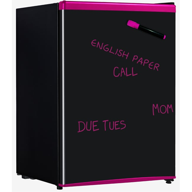 Sunpentown RF-261P 2.6 Cubic Foot Pink Erase Board Refrigerator - Thumbnail 0