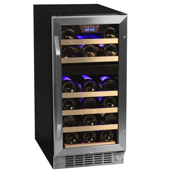EdgeStar 26-bottle Black/ Stainless Steel Wine Cooler Sold by Living Direct