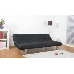 Vegas Black Futon Sofa Bed - Thumbnail 1