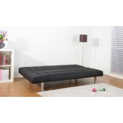 Vegas Black Futon Sofa Bed - Thumbnail 2