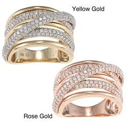 D'Yach 14k Yellow or Rose Gold 1 1/2ct TDW Diamond Ring (G-H, I1-I2)