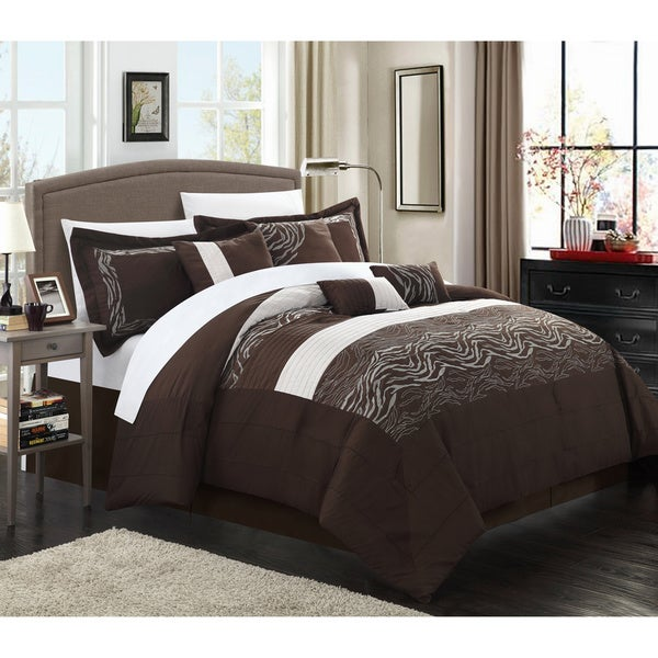 Brown Zebra 8-piece Comforter Set