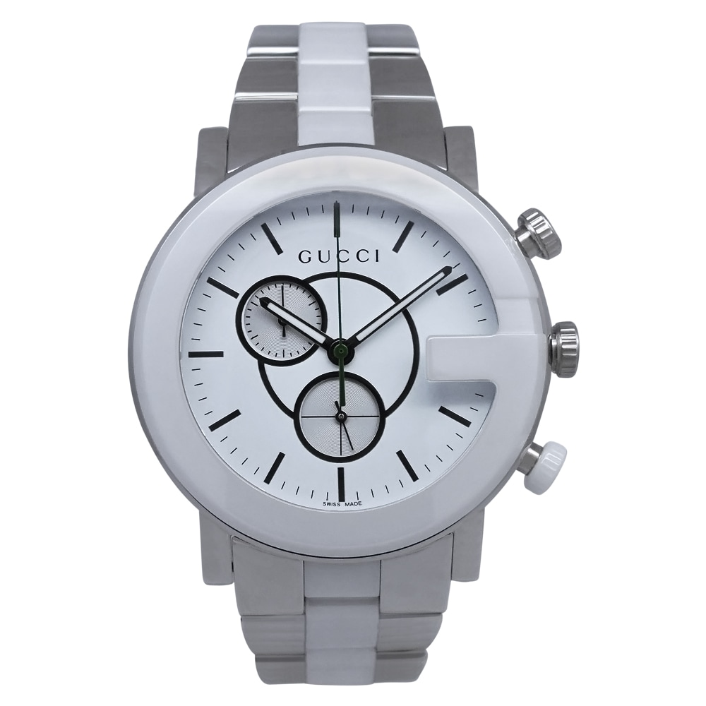 a092b7af228 Shop Gucci Men s G-Chrono Watch - White Silver - Free Shipping Today -  Overstock - 6816788
