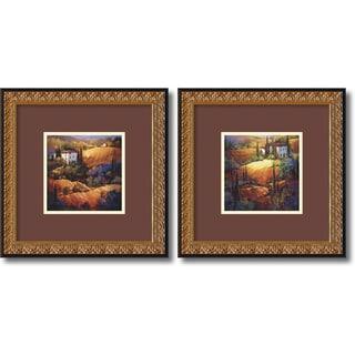 Nancy O'Toole 'Tuscany' 2-piece 18 x 18-inch Framed Art Print
