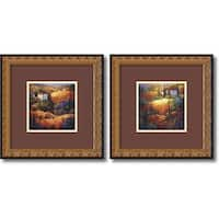 Framed Art Print 'Tuscany  - set of 2' by Nancy O'Toole 18 x 18-inch Each