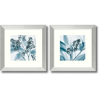 Framed Art Print 'Eucalyptus - set of 2' by Steven N. Meyers 14 x 14-inch Each