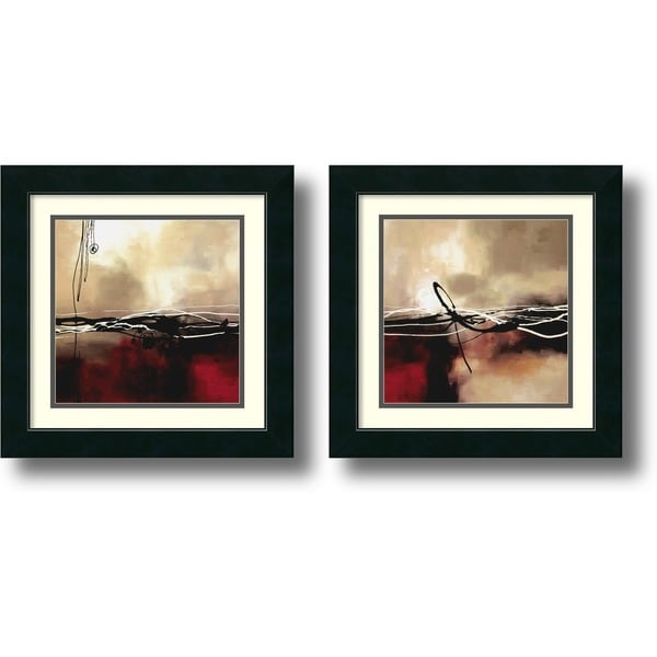 Laurie Maitland 'Symphony' 2-piece 17 x 17-inch Framed Art Print