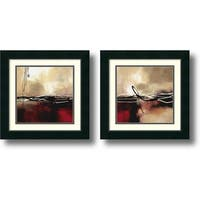 Framed Art Print 'Symphony  - set of 2' by Laurie Maitland 18 x 18-inch Each