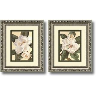 Waltraud Fuchs Von Schwarzbek 'Magnolias' 10 x 12-inch Framed Art Print (Set of 2)