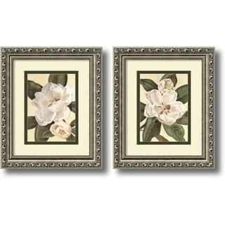 Framed Art Print 'Magnolias - set of 2' by Waltraud Fuchs Von Schwarzbek 11 x 13-inch Each https://ak1.ostkcdn.com/images/products/6816809/P14348642.jpg?impolicy=medium