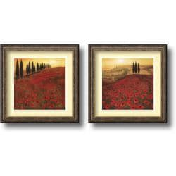 Steve Thoms 'Poppies Set' Framed Art Print