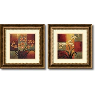 Jill Deveraux 'Orchids' 2-piece 17 x 17-inch Framed Art Print
