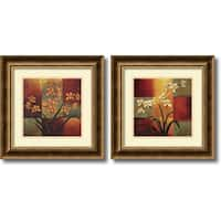 Framed Art Print 'Orchids  - set of 2' by Jill Deveraux 17 x 17-inch Each