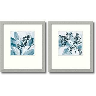 Steven N. Meyers 'Silver Eucalyptus' 2-piece 15 x 17-inch Framed Art Print