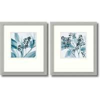 Framed Art Print 'Silver Eucalyptus - set of 2' by Steven N. Meyers 15 x 17-inch Each