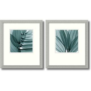 Steven N. Meyers 'Silver Lilies' 2-piece 15 x 17-inch Framed Art Print