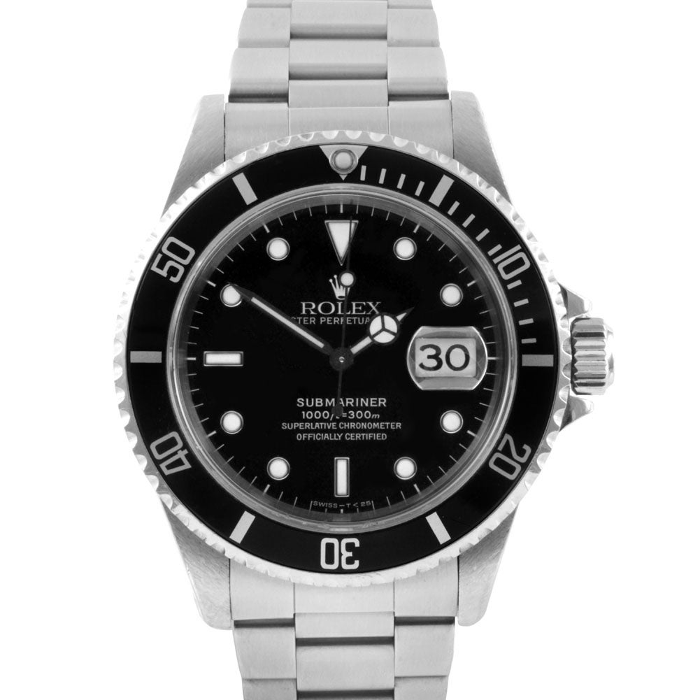 Pre-owned Rolex Men's Stainless Steel Submariner Watch - Thumbnail 0