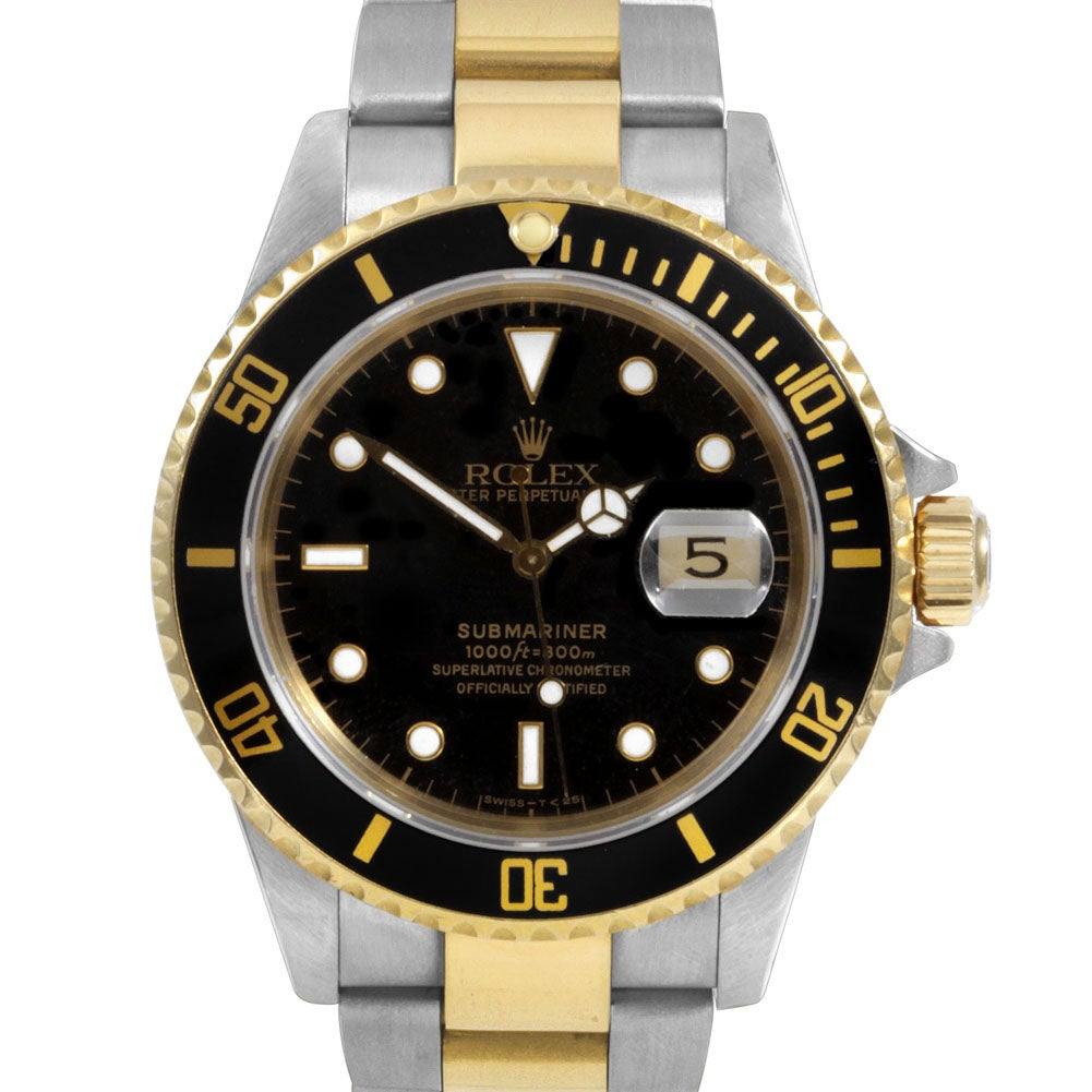 Pre-owned Rolex Men's Two-tone Submariner Watch
