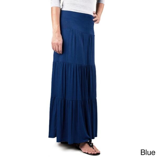 Tabeez Women's Layered Maxi Skirt