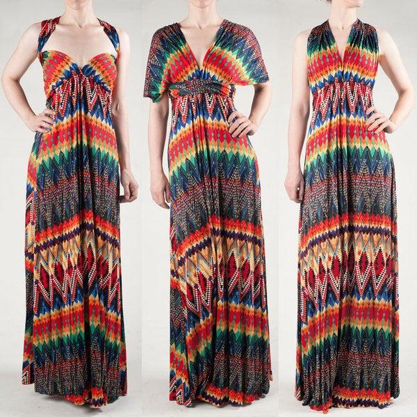 Tabeez Women's Print Multi Way Dress