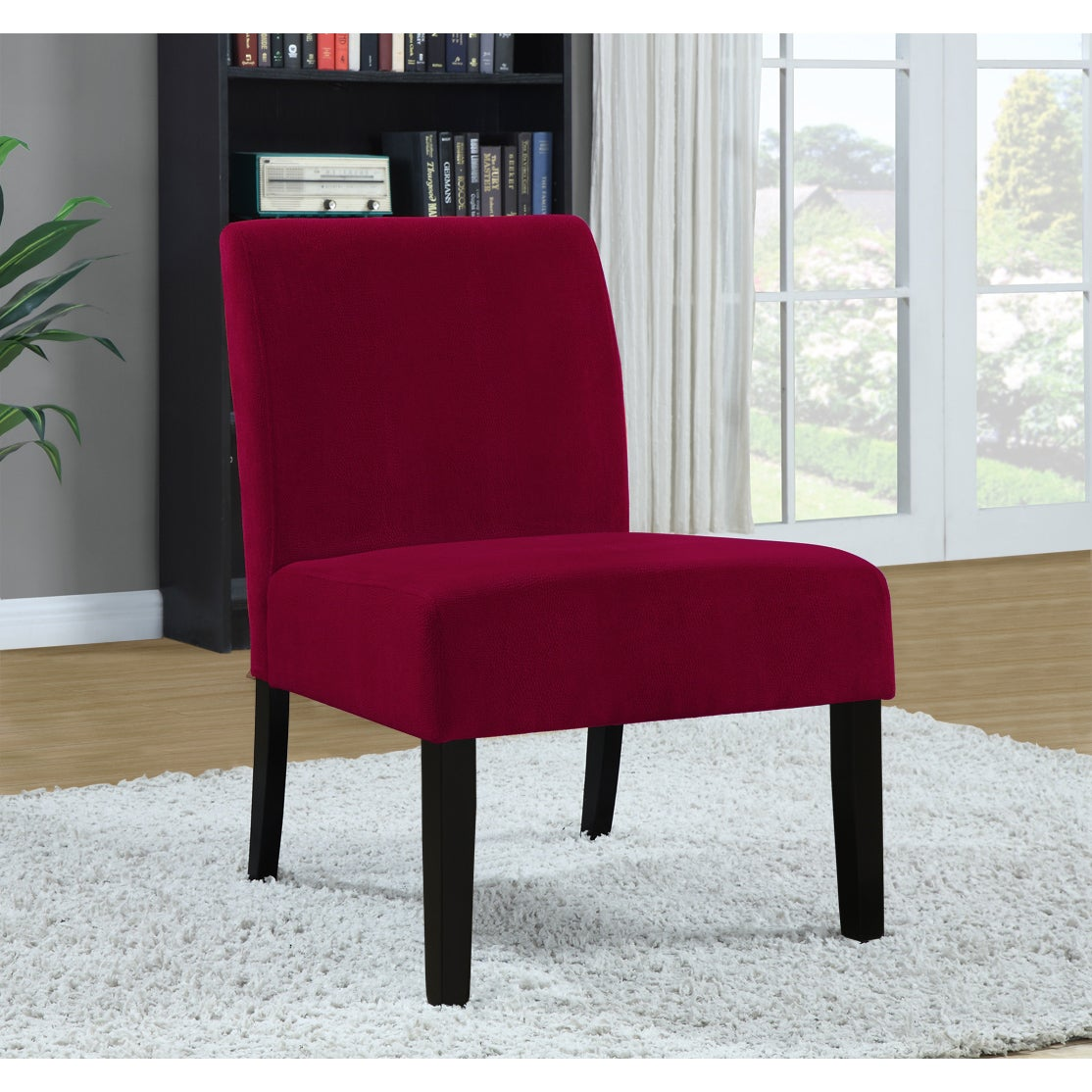 Red Accent Chair For Cheap: Shop Red Crocodile Velvet Accent Chair