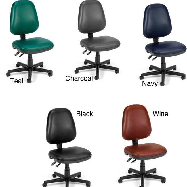 OFM Posture Series Ergonomic Adjustable Vinyl Upholstered Task Chair