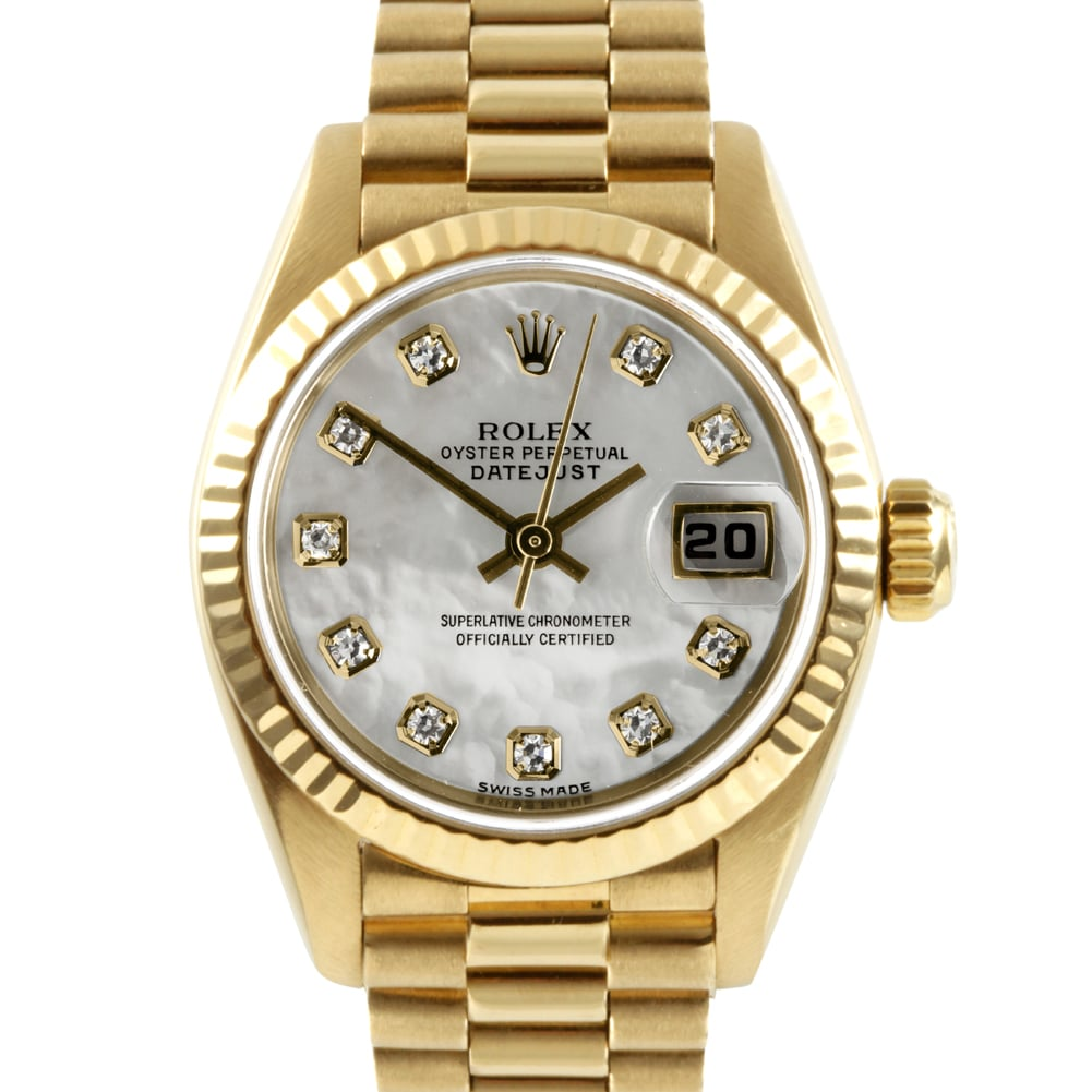 Pre-owned Rolex Women's 18-karat President Watch