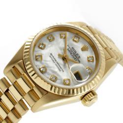 Pre-owned Rolex Women's 18-karat President Watch - Thumbnail 1