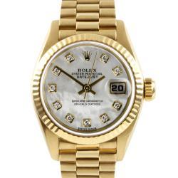 Pre-owned Rolex Women's 18-karat President Watch