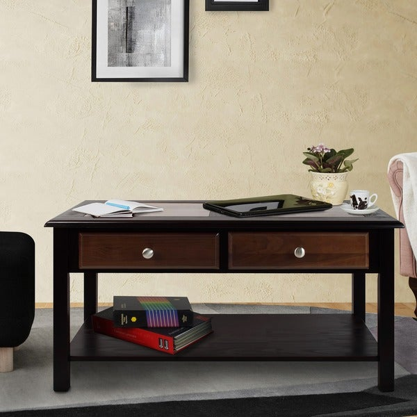 Nassau Walnut Espresso Coffee Table