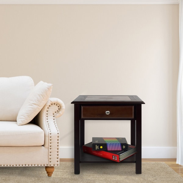 American Trails Nassau End Table with American Walnut Top