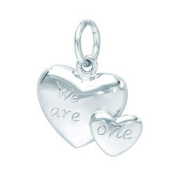 Sterling Silver 'We Are One' Heart Charm