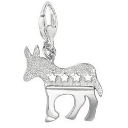 Sterling Silver Democrat Donkey Charm