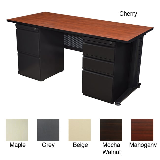Regency Seating Fusion 60 Inch Double Pedestal Desk Free