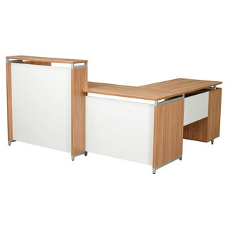 Regency Seating OneDesk ADA Compliant Reception Desk with 42-inch File File Pedestal Return