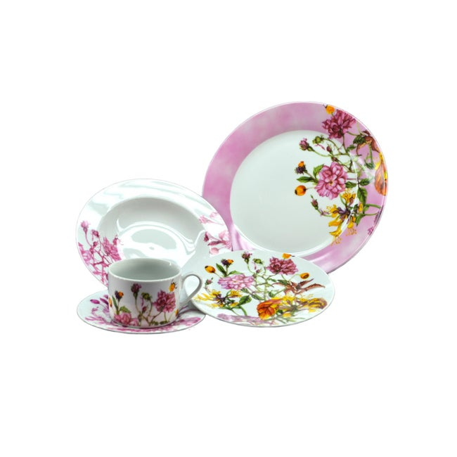 Summer Flowers Dinnerware Set (Set of 20)