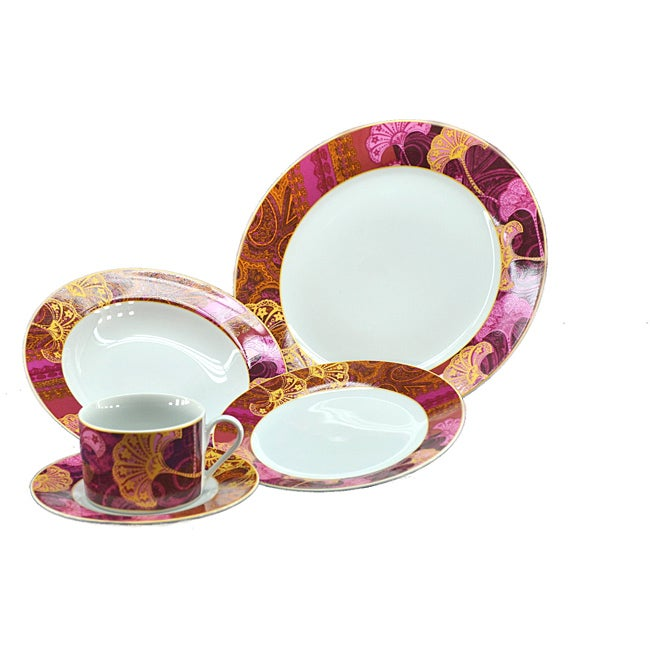Pink Stars Dinnerware Set (20 Pieces)