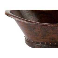 Premier Copper Products Bath Tub Vessel Hammered Copper Sink - Thumbnail 1