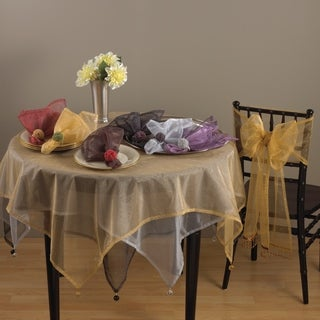 Dotted Organza Table Linens (set of 4)