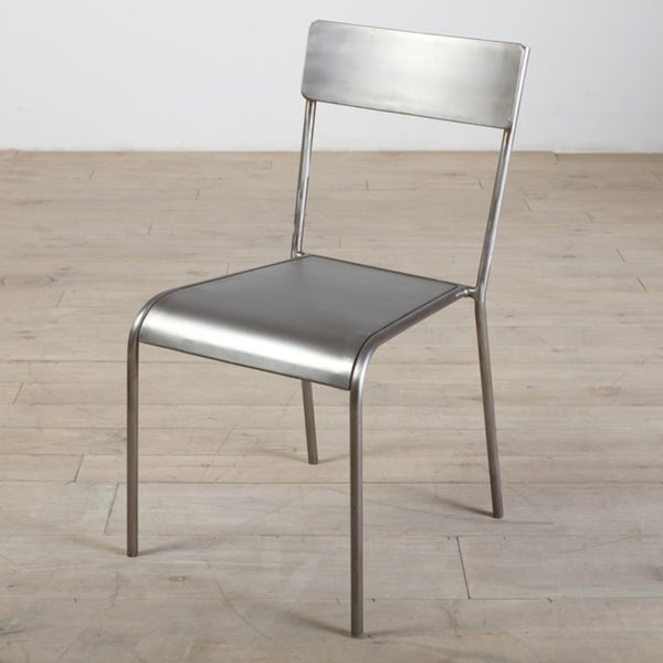 Brushed Nickel Iron Chair (India)