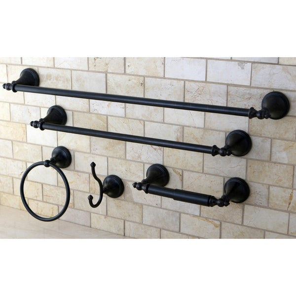 Naples Oil Rubbed Bronze 5-piece Bathroom Accessory Set