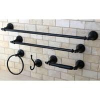 Naples Oil Rubbed Bronze 5-piece Bathroom Accessory Set