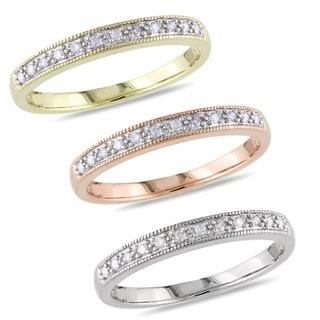 Miadora 10k Gold 1/10ct TDW Diamond Wedding Band