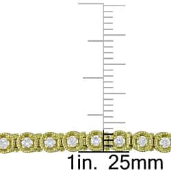 Miadora 14k Yellow Gold 1 1/3ct TDW Diamond Tennis Bracelet (G-H, SI1)