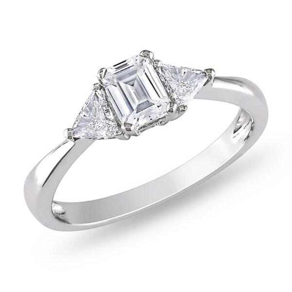 Miadora 14k Gold 3/4ct TDW Diamond 3-stone Engagement Ring (G-H, I1-I2)