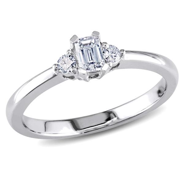 Miadora 14k Gold 1/3ct TDW Diamond 3-stone Engagement Ring (G-H, I1-I2)