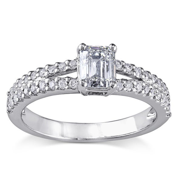 Miadora Signature Collection Platinum 1ct TDW Certified Diamond Engagement Ring (G-H, I1-I2)