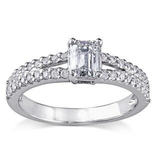 Miadora Signature Collection Platinum 1ct TDW Certified Diamond Engagement Ring