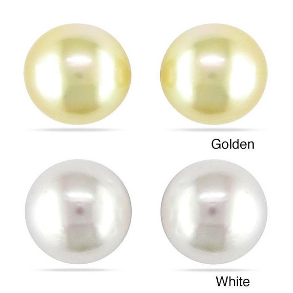 Miadora 14k Gold South Sea Pearl Stud Earrings (9-10 mm)