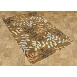 Alliyah Handmade Inca Gold New Zealand Blend Wool Rug (8' x 10')